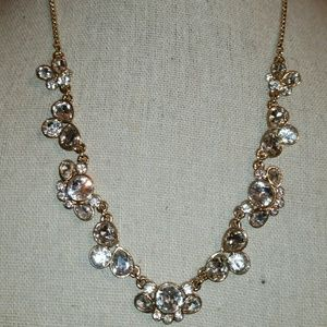 Charter Club Gold Tone/Faceted Crystal Necklace